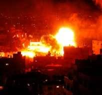 GAZA, Territorios Palestinos.- Estas hostilidades tienen lugar tras meses de tensiones entre Israel y Hamas. Foto: AFP.