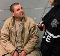Arranca el juicio del Chapo Guzmán, el mayor capo narco extraditado a EEUU. Foto: AFP