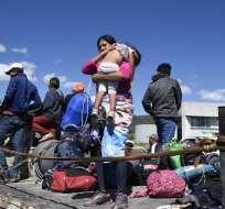 Grupos reducidos de migrantes comenzaron a llegar los últimos días. Foto: AFP