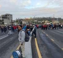 Imbabura: Paro de transporte causa suspensión de clases. Foto: Twitter