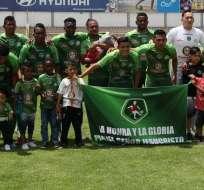 El equipo tungurahuense, que goleó a Orense, también inauguró su estadio. Foto: API