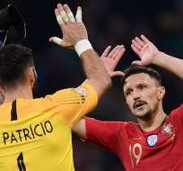 Los 'lusos' empataron 0-0 con Italia en Milan.  Foto: Marco BERTORELLO / AFP