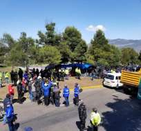QUITO, Ecuador.- El Ministerio de Inclusión Económica informó que en el campamento residían 59 migrantes. Foto: Juan Flores.