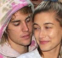 Justin Bieber y Hailey Baldwin quienes anunciaron su matrimonio este fin de semana. Foto: Getty Images