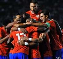 AREQUIPA, Perú.- La selección de Costa Rica derrotó la semana pasada a Chile. Foto: AFP