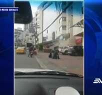QUITO, Ecuador.- Policía investiga los hechos tras confirmar que los afectados no tenían dinero. Foto: Captura Video:.