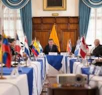 Los países se volveran a reunir en marzo de 2019. Foto: Cancillería Ecuador