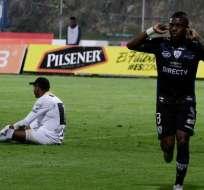 SANGOLQUÍ, Ecuador.- Jhegson Méndez anotó el único gol del partido. Foto: API