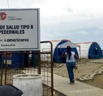 Damnificados del terremoto de 2016 exigen reconstrucción de hospital en Pedernales. Foto:  ElDiario.EC