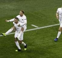 El equipo francés superó 2-1 al conjunto inglés en París. Foto: Geoffroy VAN DER HASSELT / AFP