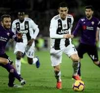 FLORENCIA, Italia.- Ronaldo suma 10 tantos en 14 partidos del campeonato italiano. Foto: AFP