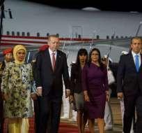 CARACAS, Venezuela.- Erdogan junto a la canciller venezolana, Delcy Rodríguez. Foto: Delcy Rodríguez.