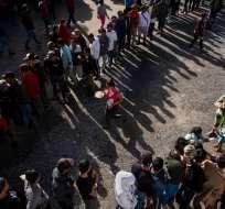 Es la primera del canciller mexicano con la secretaria de Seguridad Nacional de EEUU. Foto: AFP