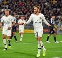 BURDEOS, Francia.- Este domingo 2 de diciembre Neymar anotó un gol en el partido contra Burdeos. Foto: AFP