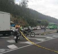 7 personas heridas en múltiple accidente en la av. Simón Bolívar.