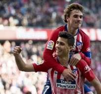 Los 'colchoneros' vencieron 3-0 al equipo revelación de la temporada. Foto: CURTO DE LA TORRE / AFP