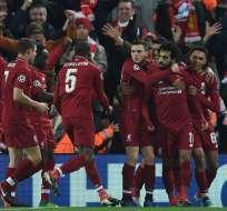 Los 'Reds' superaron 1-0 al elenco italiano con gol de Mohamed Salah. Foto: Paul ELLIS / AFP