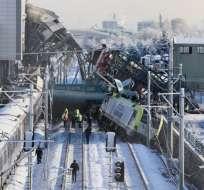 En el tren viajaban más de 200 pasajeros. Foto: AFP