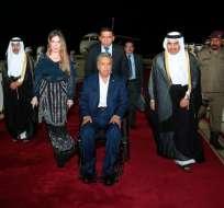 Mandatario se reunirá con el Emir Tamim bin Hamad Al Thani. Foto: Secom