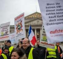 """La movilización de """"chalecos amarillos"""" disminuye en Francia. Foto: AFP"""