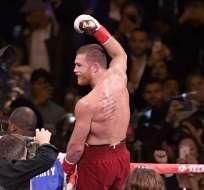 El boxeador mexicano también posee el título de peso mediano de la CMB y la AMB. Foto: Sarah Stier / GETTY IMAGES NORTH AMERICA