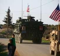 SIRIA.- Hay 2.000 efectivos estadounidenses en Siria, la mayoría de ellos en misiones de apoyo. Foto: AFP