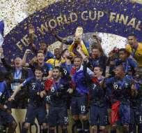 Francia consiguió la segunda Copa Mundial en su historia venciendo 4-2 a Croacia. Foto: AFP