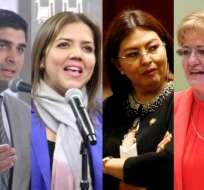 ECUADOR.- Sonnenholzner reemplaza a Vicuña en vicepresidencia. Espín y Vallejo fueron destituidas. Collage: Ecuavisa