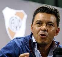 Gallardo reconoce que el triunfo sobre Boca es 'grandioso'. Foto: AFP