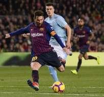 BARCELONA, España.- Este sábado 22 de diciembre, Messi sentenció la victoria de Barcelona 2-0 sobre el Celta. Foto: AFP