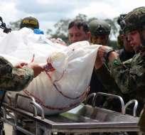 Detalles del operativo que termino con 'Guacho'. Foto: AFP