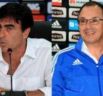 Ambos entrenadores han dirigido el elenco del Club Sport Emelec. Foto: tomada de Studio Fútbol