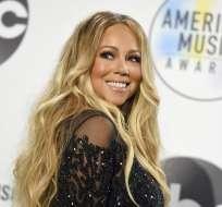 9 de octubre del 2018: Mariah Carey posa en la sala de prensa durante la ceremonia de los American Music Awards. Foto: AP.