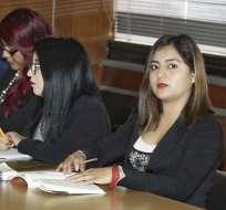 QUITO, Ecuador.- Formulan cargos contra la exasambleísta y la abogada por oferta de tráfico de influencias. Foto: API