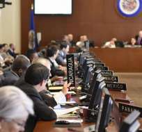 EE.UU.- El Consejo Permanente de la organización se reúne en Washington en sesión extraordinaria. Foto: Twitter