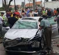 A diario se registran 13 accidentes de tránsito en Guayaquil. Foto: Archivo - Referencial