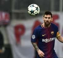 """Messi además reconoció que """"ve complicado"""" que Neymar regrese al club catalán. Foto: AFP"""