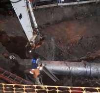 La entidad no especificó el horario de reanudación del suministro de agua. Foto: Interagua.