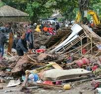 INDONESIA.- El tsunami se produjo repentinamente el 23 de diciembre de 2018 en el estrecho de la Sonda. Foto: AP