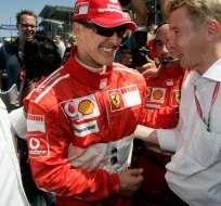 Este 29 de diciembre, Schumacher cumple cinco años en coma tras el aparatoso accidente en los Alpes franceses. Foto: AFP