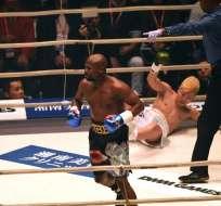 El boxeador estadounidense superó a Tenshin Nasukawa por KO técnico. Foto: Toshifumi KITAMURA / AFP