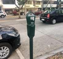 Empiezan a funcionar las multas en parquímetros en Guayaquil. Foto: Twitter