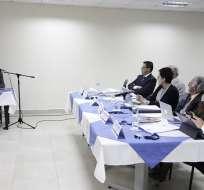 ECUADOR.- Hernán Salgado (i) es el mejor puntuado del proceso con 88/100. Foto: API