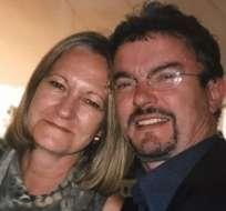 Sally Challen y Richard Challen durante su matrimonio, que duró 31 años.