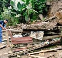 Invierno deja las dos primeras víctimas y varias viviendas afectadas en Ecuador.