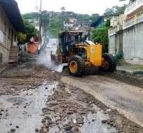 ESMERALDAS, Ecuador.- Más de 48 horas de lluvias ha provocado deslizamientos de tierra. Foto: Esmeraldas News