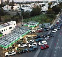 Plan contra robo de combustible provoca escasez de gasolinas en México. Foto: AFP