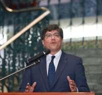"""QUITO, Ecuador.- Valencia explicó que la posición del país en la OEA sigue """"principios claros"""" de derecho internacional."""
