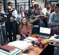 GUAYAQUIL, Ecuador.- Fiscalía reportó problemas técnicos y ausencia de abogados del expresidente. Foto: Fiscalía