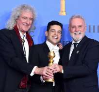 """Bohemian Rhapsody"""" ganó el Globo de Oro a mejor película dramática y a mejor actor. Foto: AP."""